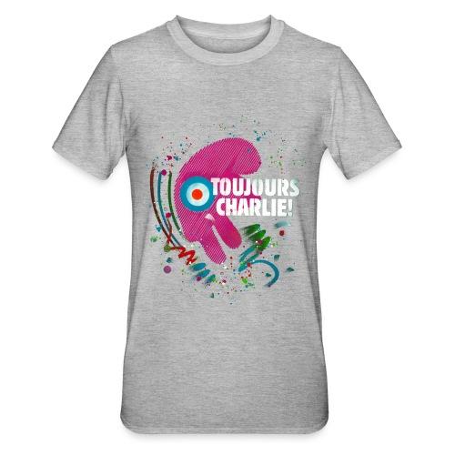 Toujours Charlie interprété par l'artiste C215 - T-shirt polycoton Unisexe