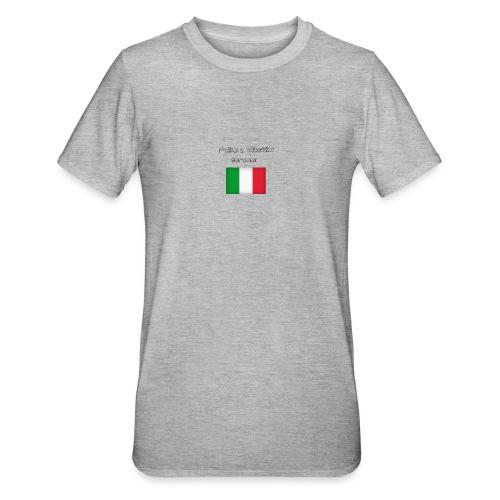 Włosko-polska - Koszulka unisex z polibawełny