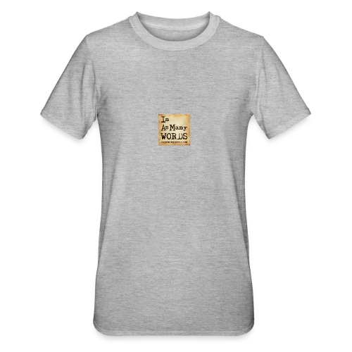 I AM Words LOGO_Brown - Unisex Polycotton T-Shirt