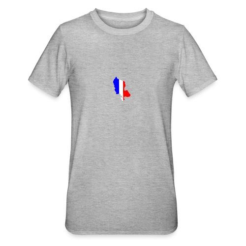 Carte Territoire de Belfort bleu blanc rouge - T-shirt polycoton Unisexe