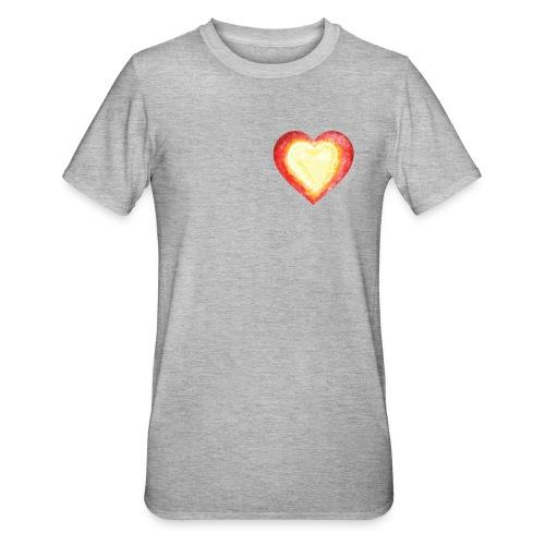 Burning Fire Heart - Unisex Polycotton T-Shirt