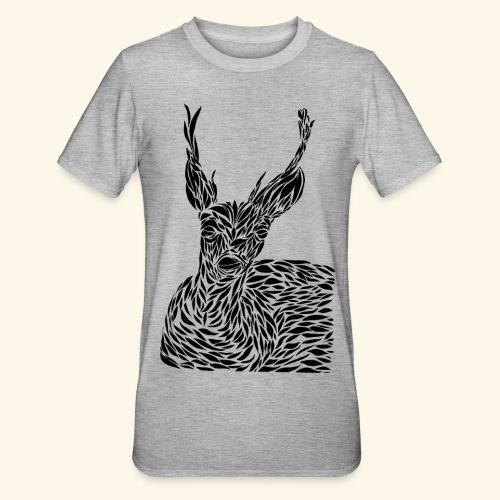 deer black and white - Unisex polypuuvilla-t-paita