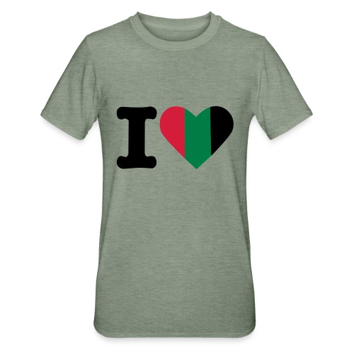 hartjeroodzwartgroen - Unisex Polycotton T-shirt