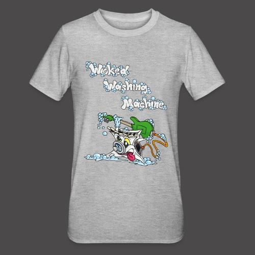 Wicked Washing Machine Cartoon and Logo - Unisex Polycotton T-shirt