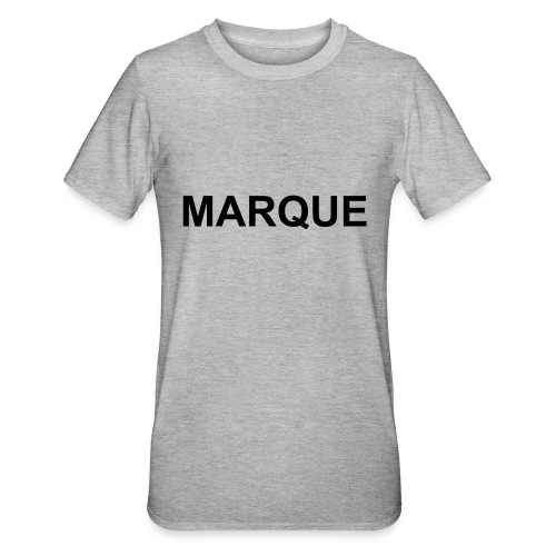 MARQUE - T-shirt polycoton Unisexe