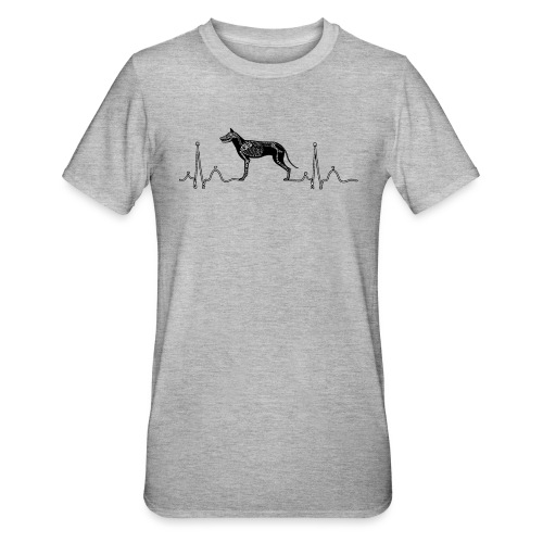 ECG met hond - Unisex Polycotton T-shirt