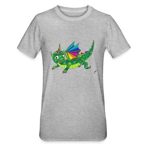 happy dragon - Unisex Polycotton T-Shirt