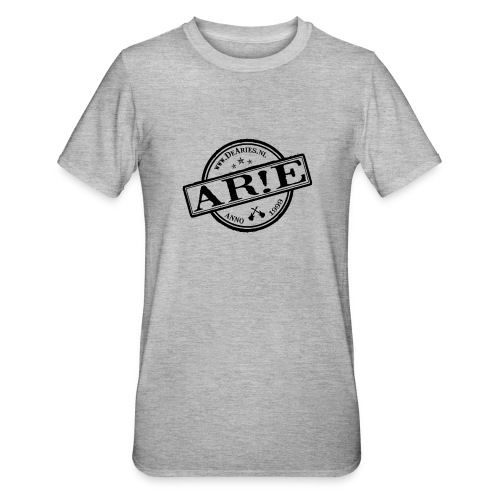 Backdrop AR E stempel zwart gif - Unisex Polycotton T-shirt
