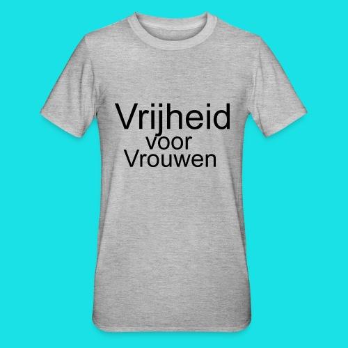Vrijheid voor vrouwen - Unisex Polycotton T-shirt