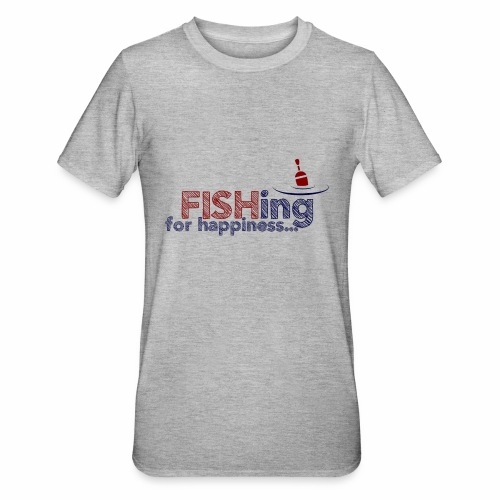 Fishing For Happiness - Unisex Polycotton T-Shirt