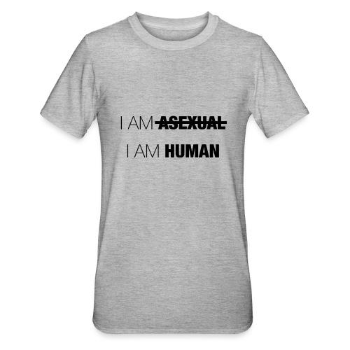I AM ASEXUAL - I AM HUMAN - Unisex Polycotton T-Shirt