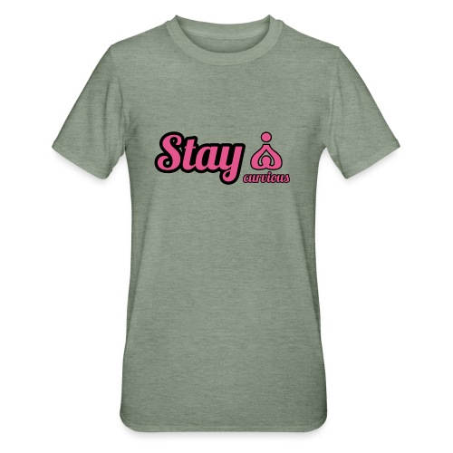 '' STAY CURVIOUS '' - Unisex Polycotton T-Shirt