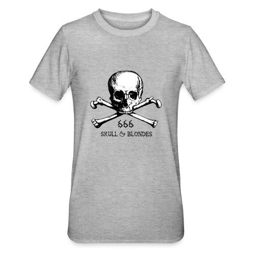 skull & blondes (black) - Unisex Polycotton T-Shirt