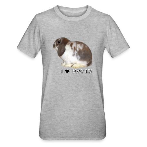 I Love Bunnies Luppis - Unisex polypuuvilla-t-paita