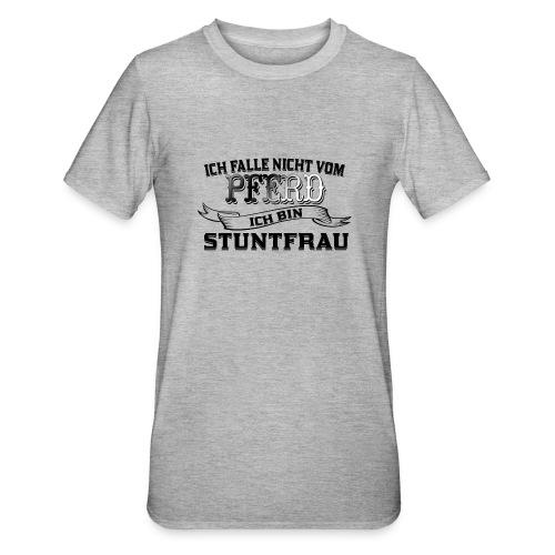 Ich falle nicht vom Pferd ich bin Stuntfrau - Unisex Polycotton T-Shirt