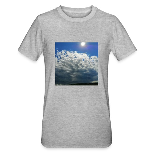 kurz blickt die Sonne über Gewitter-Himmel - Unisex Polycotton T-Shirt