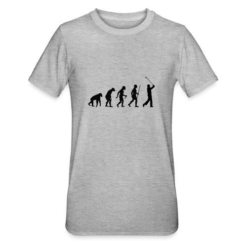 Evolution of Man Golf - Unisex polycotton T-shirt