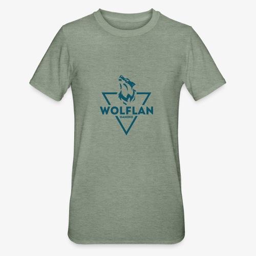 WolfLAN Logo Gray/Blue - Unisex Polycotton T-Shirt