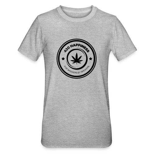 420_Happiness_logo - Unisex polycotton T-shirt