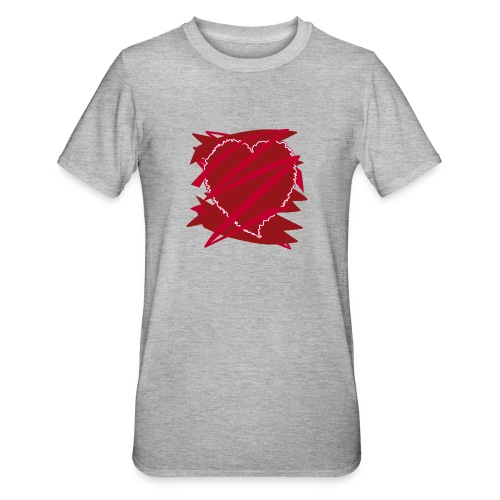 corazón enamorado, corazón roto - Camiseta en polialgodón unisex