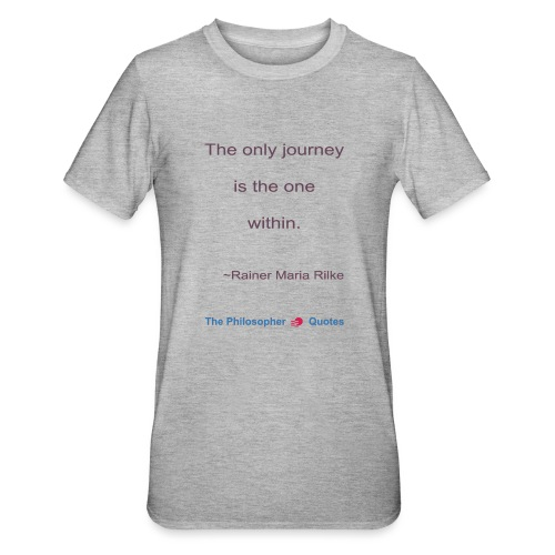 Rainer Maria Rilke The journey within Philosopher - Unisex Polycotton T-shirt