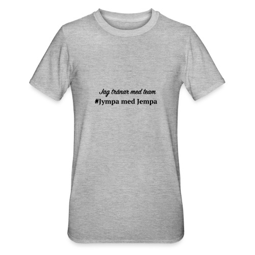 Jag tränar med JJ - Polycotton-T-shirt unisex