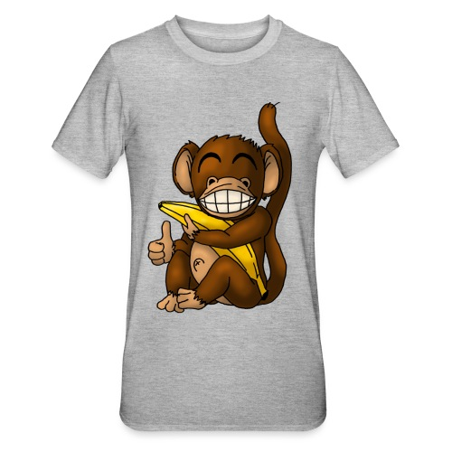Super Fröhlicher Affe - Unisex Polycotton T-Shirt