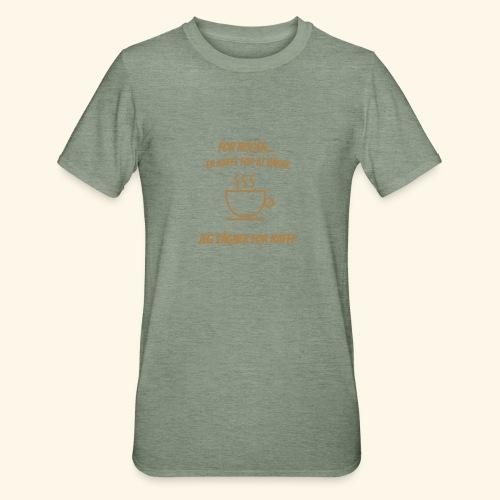 Jeg vågner for kaffe - Unisex polycotton T-shirt