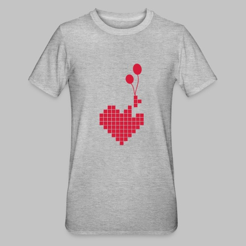 heart and balloons - Unisex Polycotton T-Shirt