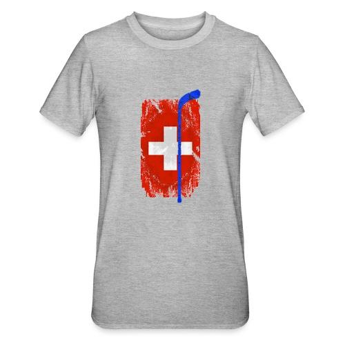 Schweizer Flagge Hockey - Unisex Polycotton T-Shirt