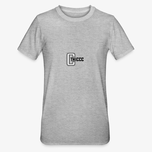 thiccc logo WHITE and BLACK - Unisex Polycotton T-Shirt