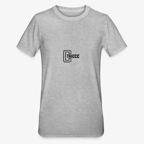 thiccc logo White - Unisex Polycotton T-Shirt