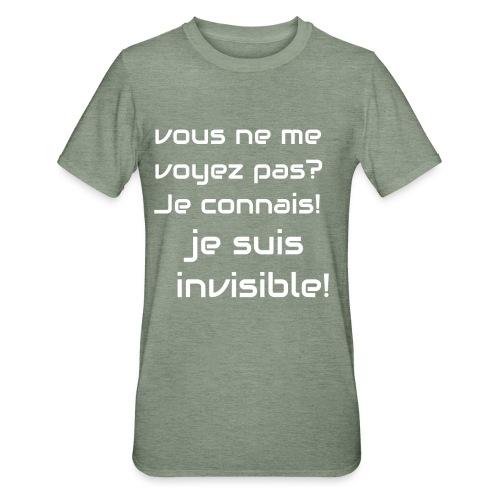 Invisibile #invisibile - Maglietta unisex, mix cotone e poliestere