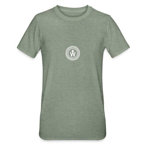 wit logo transparante achtergrond - Unisex Polycotton T-shirt