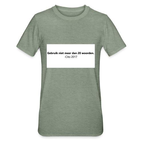 Gebruik niet meer dan 20 woorden - Unisex Polycotton T-shirt