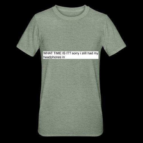 shit sorry man - Unisex Polycotton T-Shirt