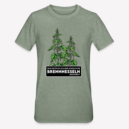 Brennnessel Schubsen - Unisex Polycotton T-Shirt