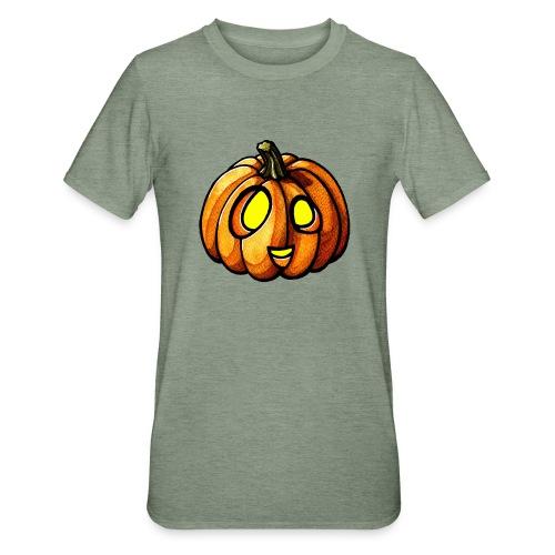 Pumpkin Halloween watercolor scribblesirii - Unisex polypuuvilla-t-paita