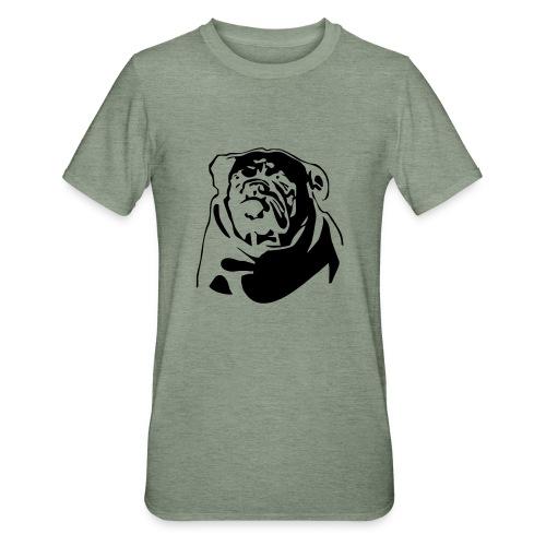 English Bulldog - negative - Unisex polypuuvilla-t-paita