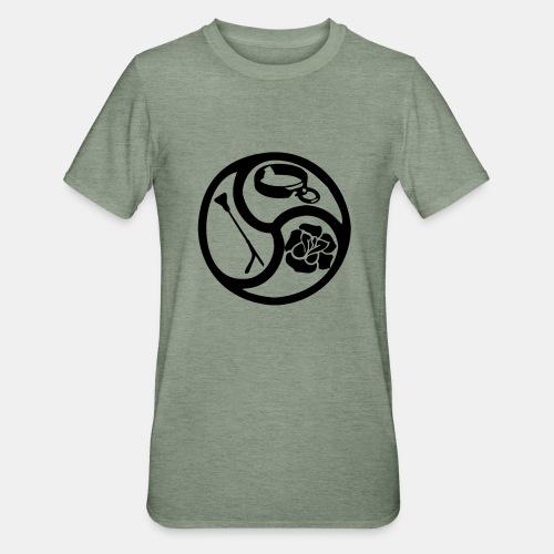 Triskele triskelion BDSM Emblem HiRes 1 color - Unisex Polycotton T-Shirt