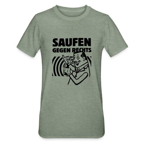 Saufen gegen Rechts - Unisex Polycotton T-Shirt