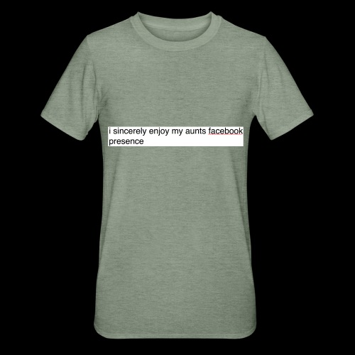 aunty irene is fine on Facebook generally - Unisex Polycotton T-Shirt
