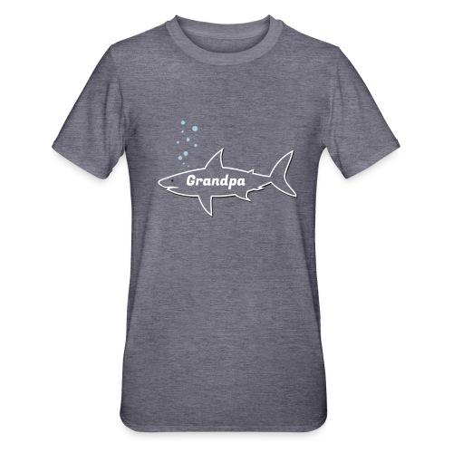 Grandpa shark - Fathers day gift - matching outfit - Unisex Polycotton T-Shirt