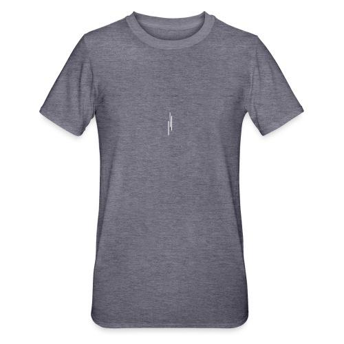 Upwards 3Lines Design WHITE - Unisex Polycotton T-Shirt