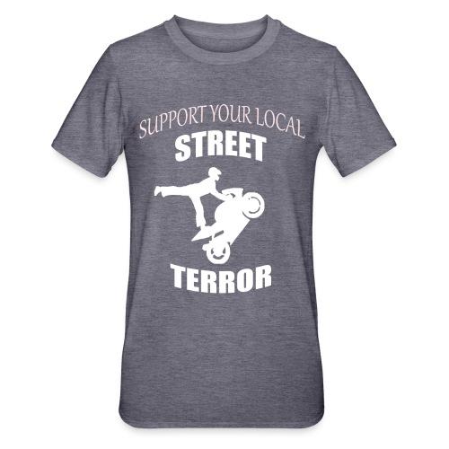 Streetterror Support - Unisex polypuuvilla-t-paita