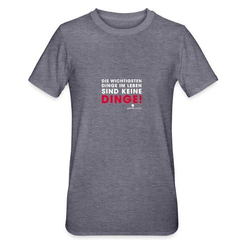 Dinge weiße Schrift - Unisex Polycotton T-Shirt