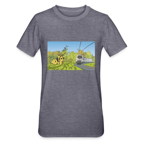 Raupe und Zug - Unisex Polycotton T-Shirt