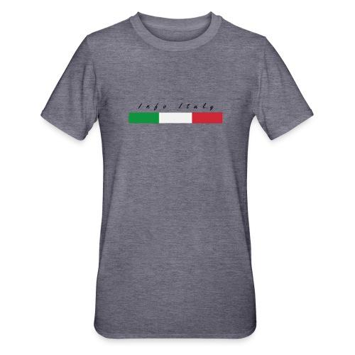 Info Italy Design - Maglietta unisex, mix cotone e poliestere