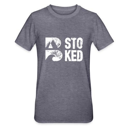 bstoked logo white - Unisex Polycotton T-Shirt