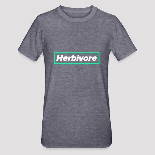 Herbivore Logo White - Maglietta unisex, mix cotone e poliestere